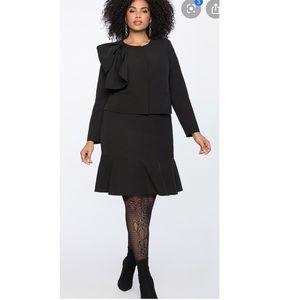 Eloquii Black Flounce Mini Skirt